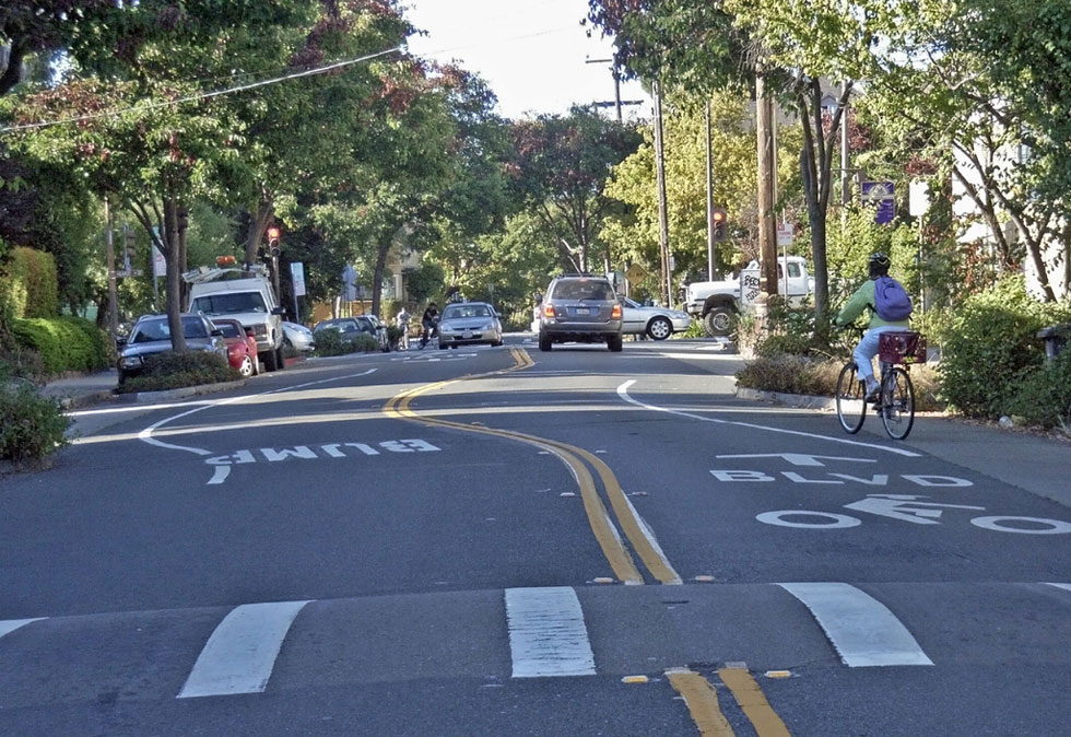 The City just released a Request for Proposal to create a Bike Boulevard Plan. [PHOTO: Payton Chung]