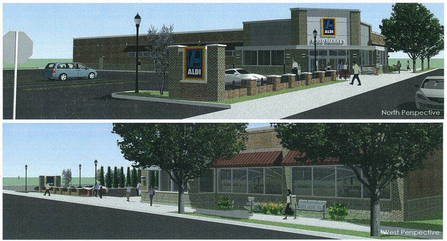 Newly Proposed Aldi Perspective Renderings. [IMAGE: APD Engineering]