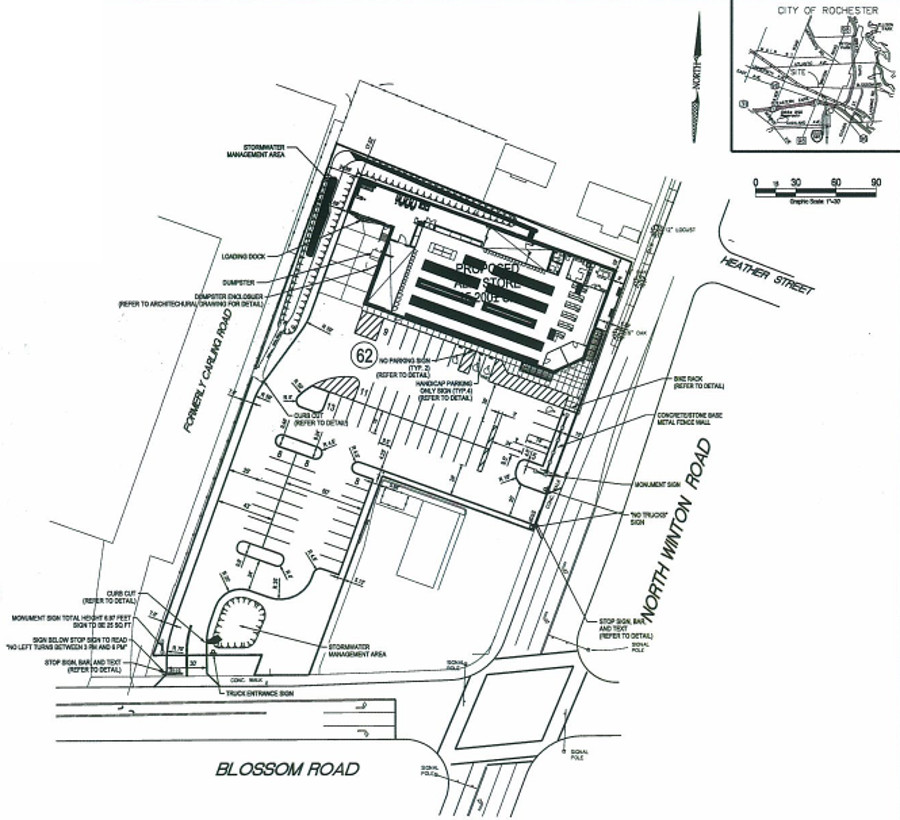 Newly Proposed Aldi Site Plan. [IMAGE: APD Engineering]