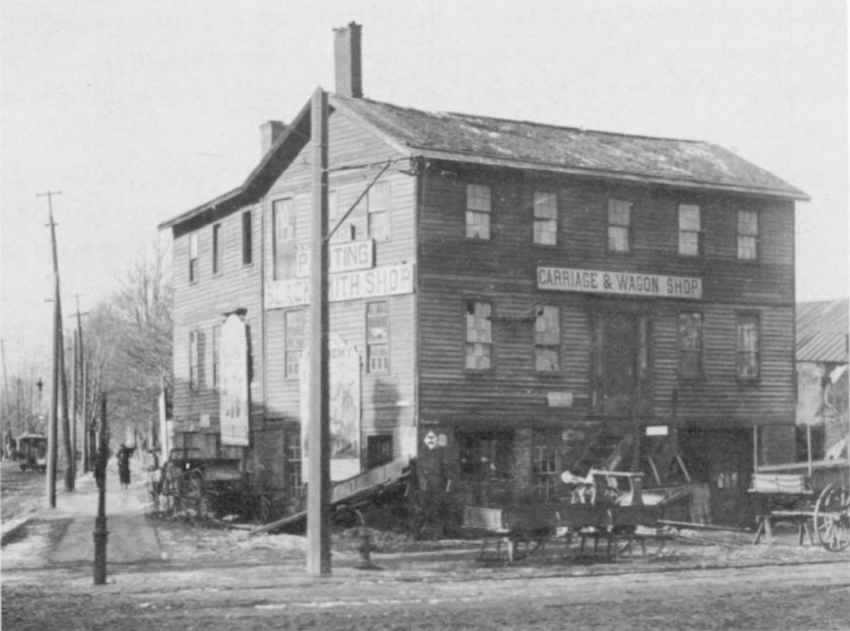 The Fankfort Tavern was located at the corner of Lake and Lyell Avenues. [PHOTO: Local History Division, Rochester Public Library.]