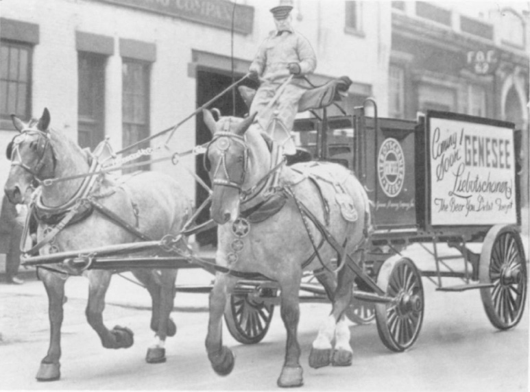 The Genesee Brewing Co. celebrated the end of Prohibition by parading its beer wagon in Washington, D.C. [PHOTO: Gannett, Office of the City Historian.]