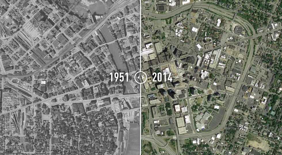 Rochester, NY... Before & After. [PHOTO: Institute for Quality Communities]